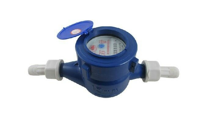 3 4 plastic economy water meter home tap water meter ebay. Black Bedroom Furniture Sets. Home Design Ideas