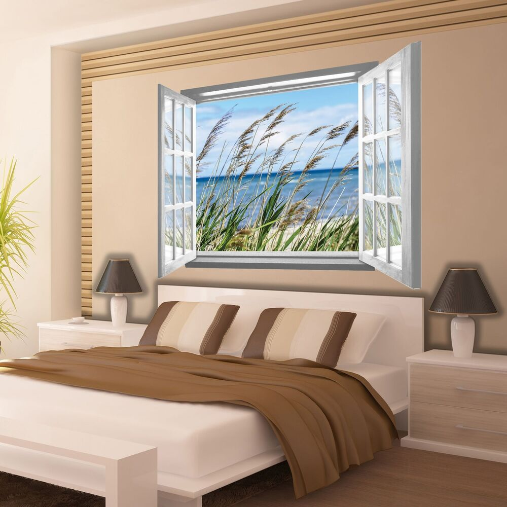 vlies fototapete tapete fototapeten tapeten fenster meer strand 3fx2071vez4 ebay. Black Bedroom Furniture Sets. Home Design Ideas