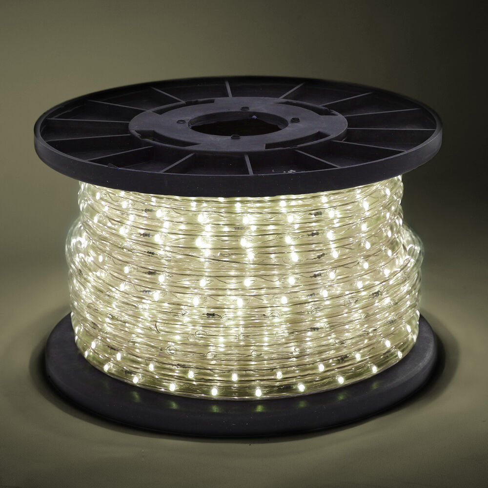 Christmas Lighting Wire : Wire warm white led rope light in outdoor v