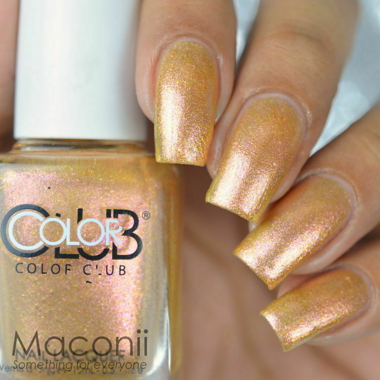 Metallic Gold Nail Polish: Metallic Gold Pink Copper