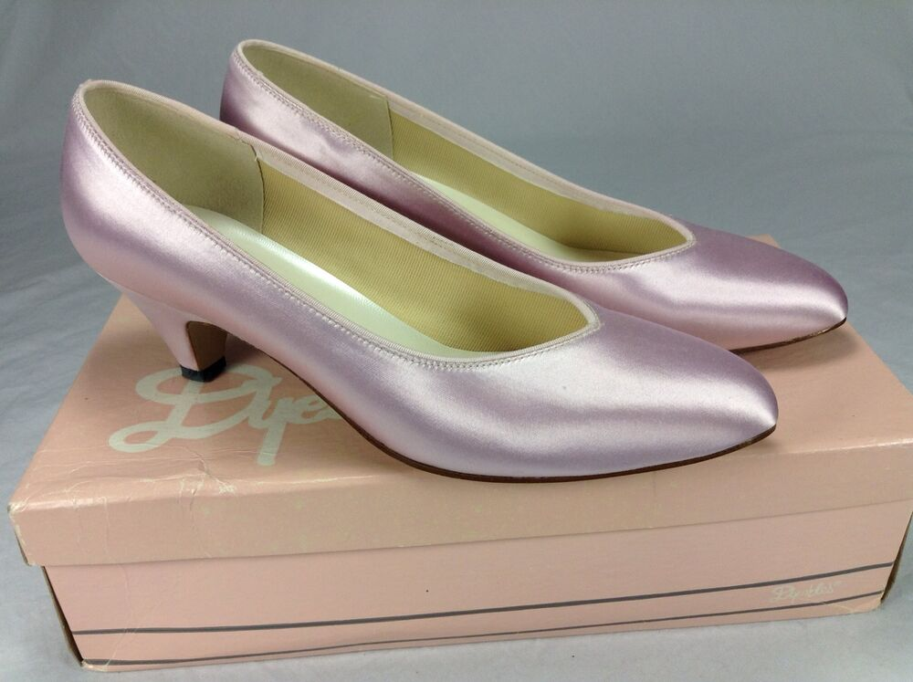 wedding shoes size 11 vintage dyeables pink satin pumps formal size 7 b made in 1133