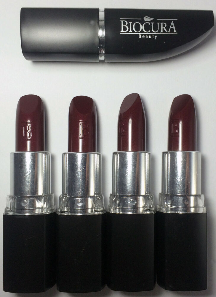 4x biocura beauty lippenstifte lipstick farbe 70 brombeere neu ebay. Black Bedroom Furniture Sets. Home Design Ideas