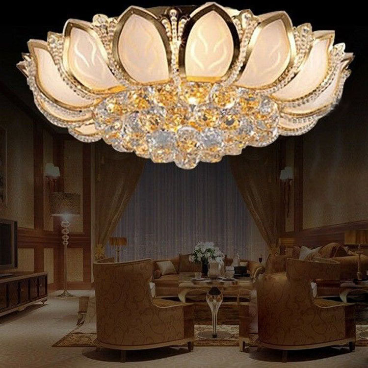 D50cm Elegant Modern Crystal Ceiling Fixture Lamps Chandelier Bedroom Lighting Ebay
