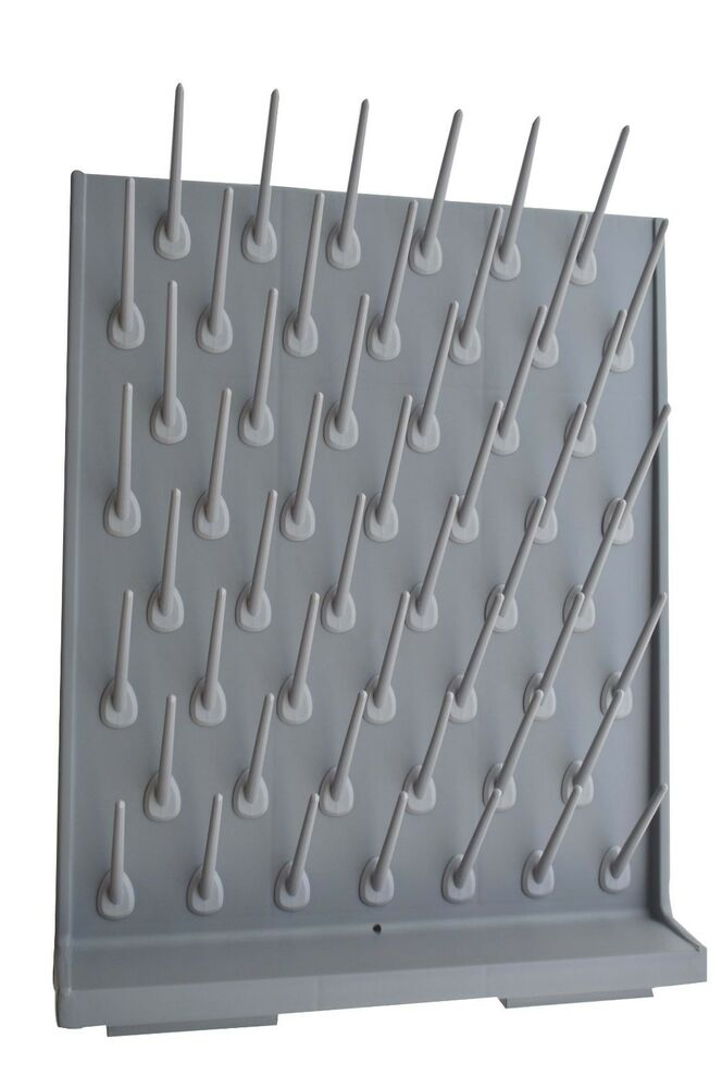Brand new lab supply wall desk drying rack 52 pegs for Wall pegs and racks