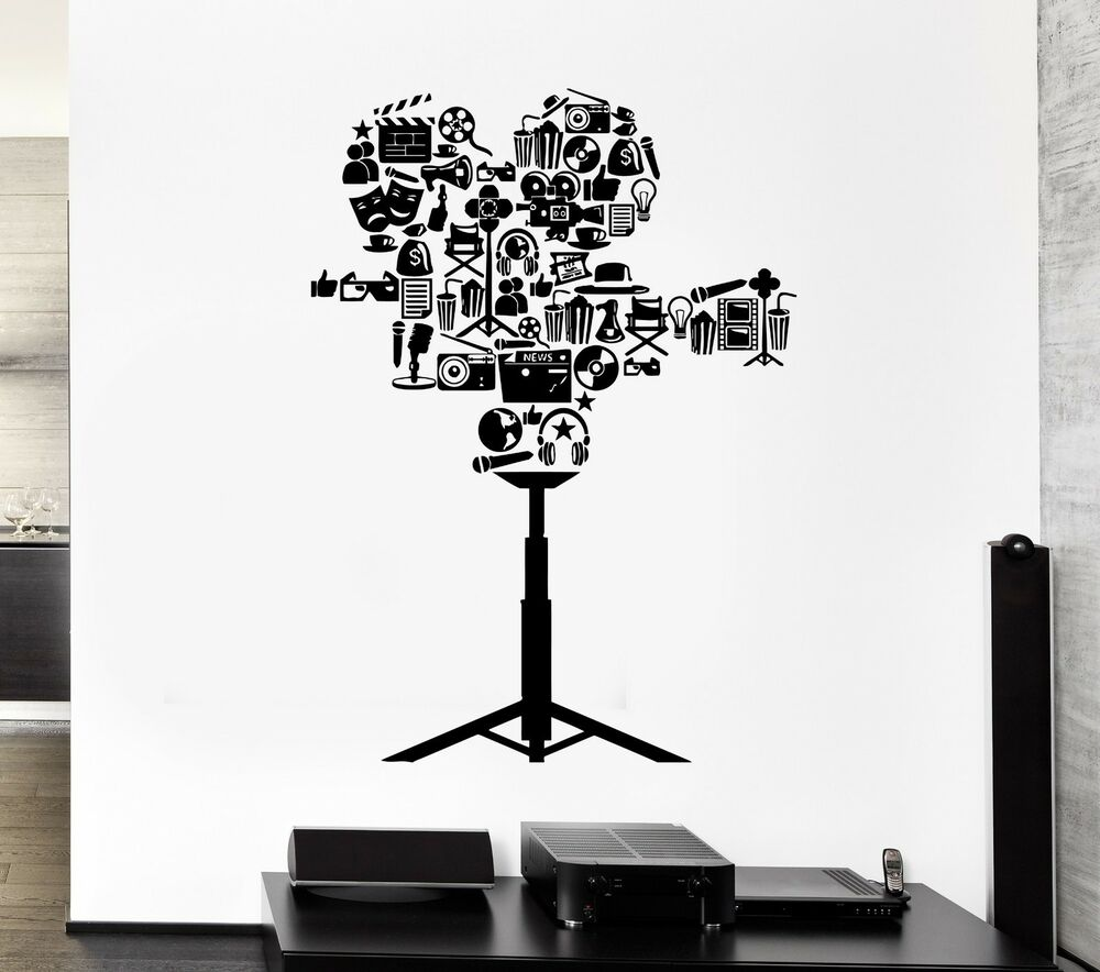 Wall Decal Camcorder Movie The Film Cinema Theater Art