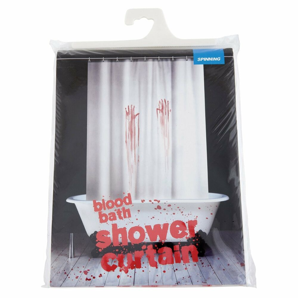 New bloody bathroom shower curtain by spinning hat free shipping