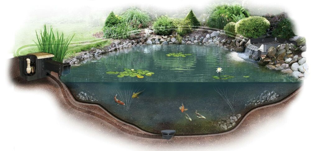 Small Pond Kit Complete For 11 39 X 16 39 Pond Es16afb Ebay