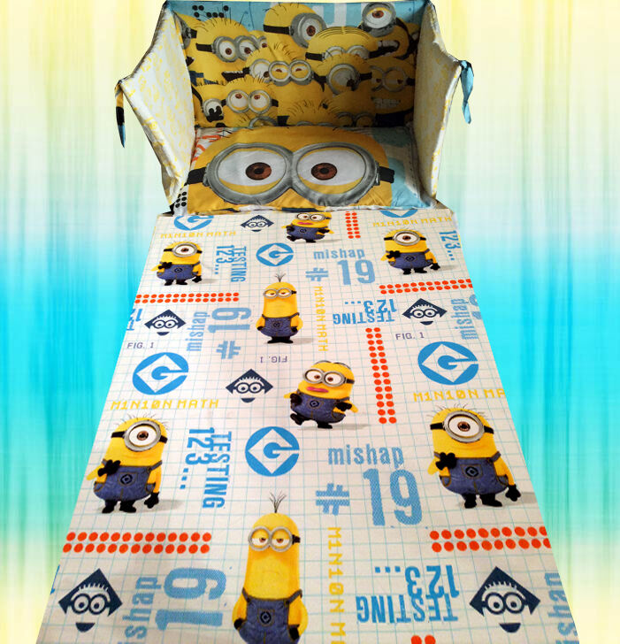 despicable me 2 minion minions movie yellow blue cot