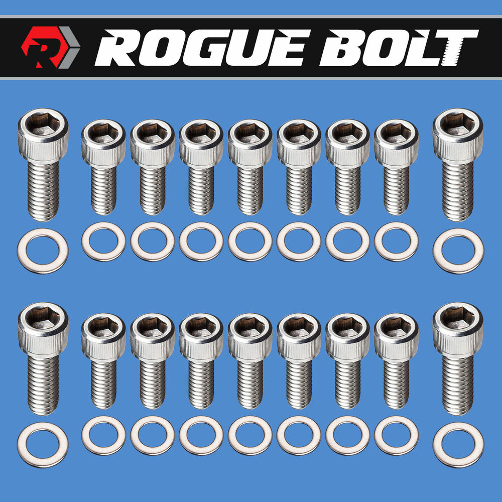 SBC OIL PAN BOLTS STAINLESS STEEL KIT SMALL BLOCK CHEVY