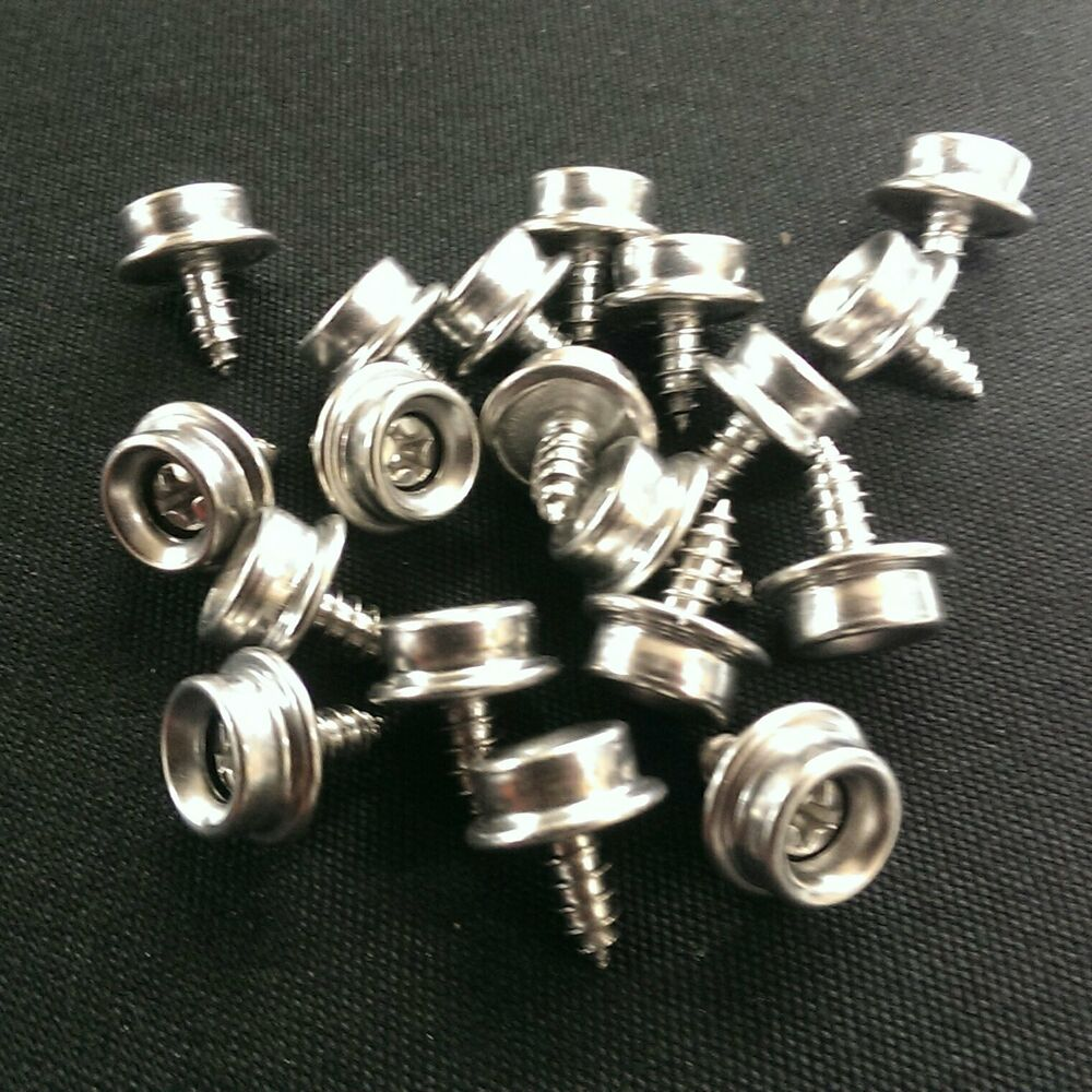 Metal Boat Covers : Quot all stainless steel screw snap studs auto