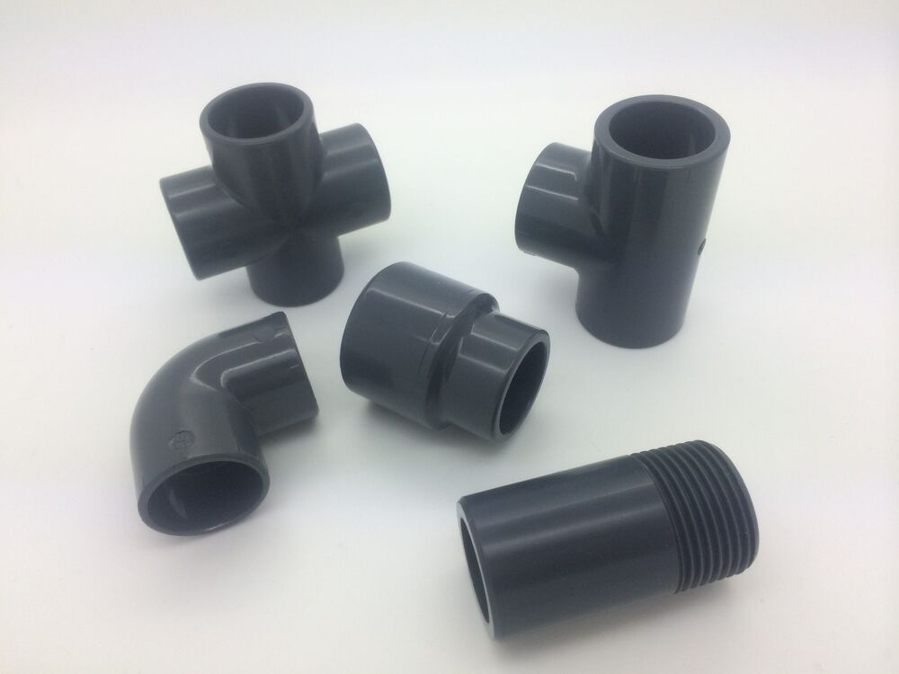 Pvc solvent weld threaded pipe adaptors quot to