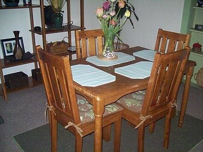 Kitchen Dining Chair Set Of 4 Solid Wood Classic Chairs Furniture Home Honey