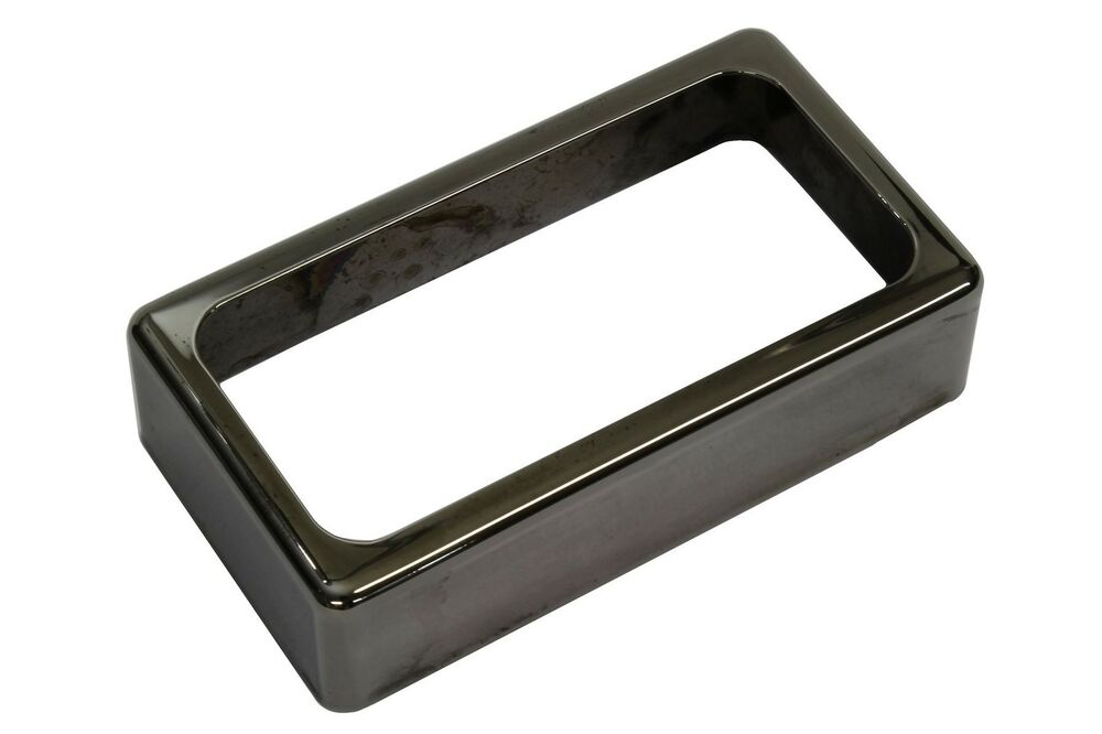 open humbucker pickup cover smoked black nickel ebay. Black Bedroom Furniture Sets. Home Design Ideas