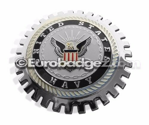 NEW Chrome Front Grill Badge United States SEAL