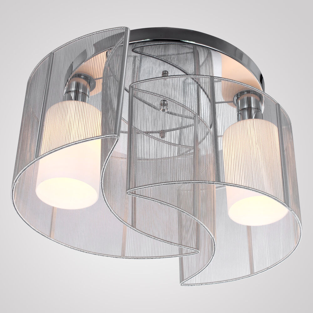 Modern Contemporary Semi Flush Mount Chandelier Lamp Ceiling 2 Light Hallway