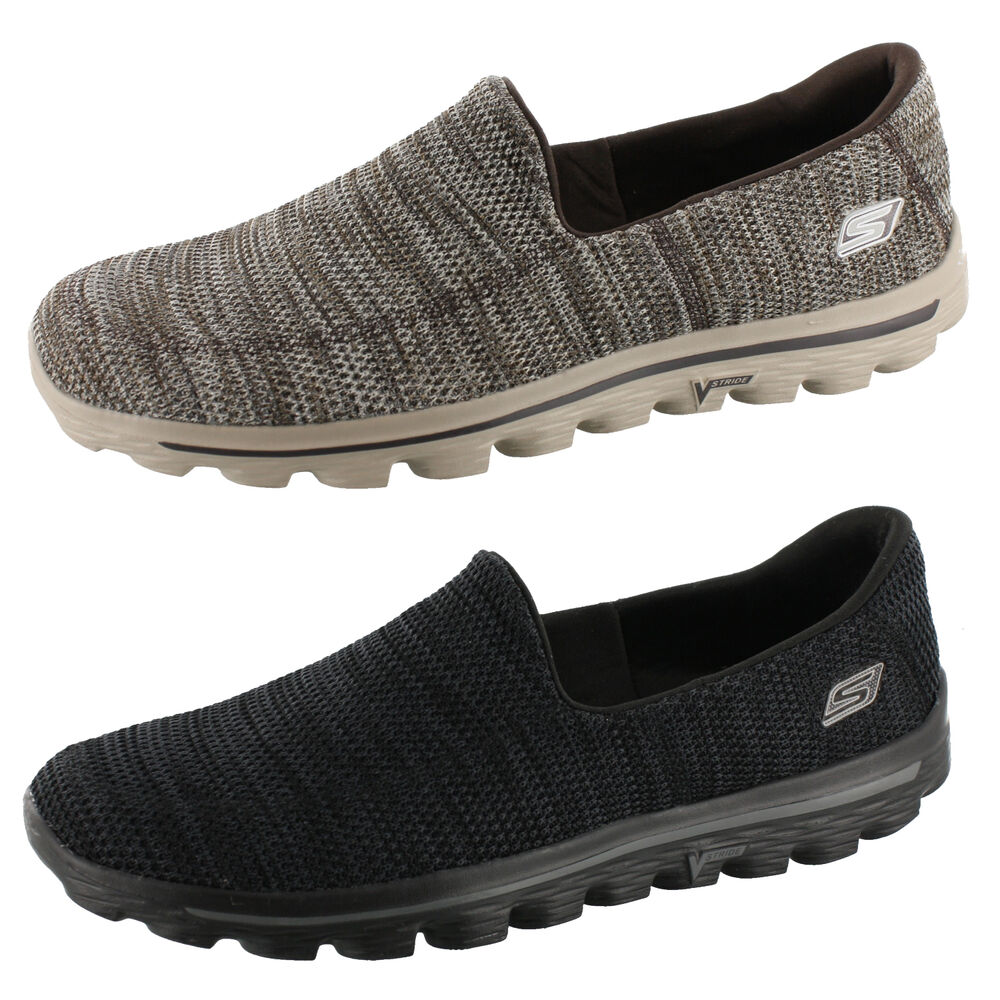skechers go walk 2 fit knit mens 53975 slip on shoes ebay. Black Bedroom Furniture Sets. Home Design Ideas