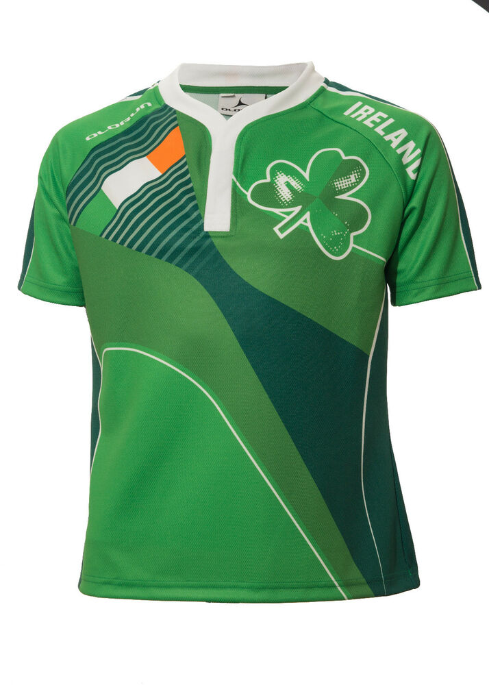 b73e486299a Details about Olorun Ireland Home Nations Sublimated Supporters Rugby Shirt  Size S-4XL