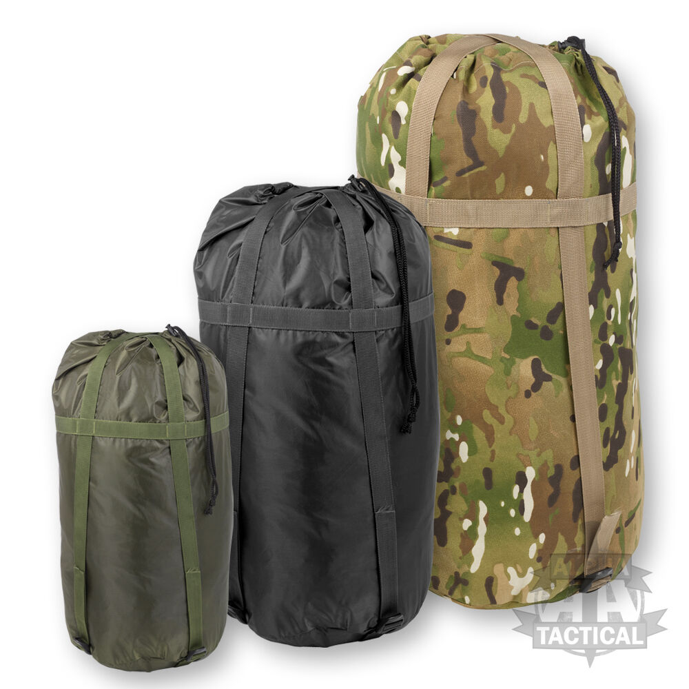 military style deluxe sleeping bag compression sack british army softie ebay. Black Bedroom Furniture Sets. Home Design Ideas