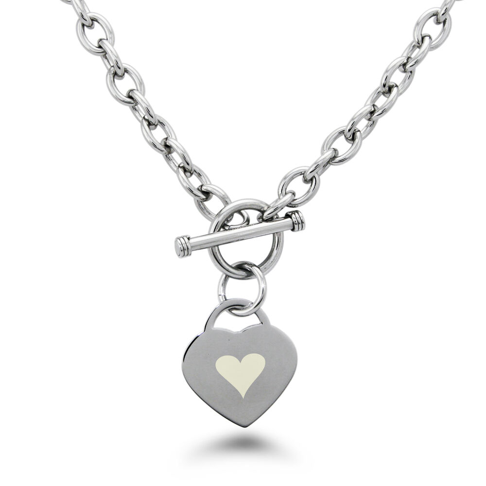 Stainless Steel Bracelet Charms: Stainless Steel Engraved Heart Icon Heart Charm Bracelet