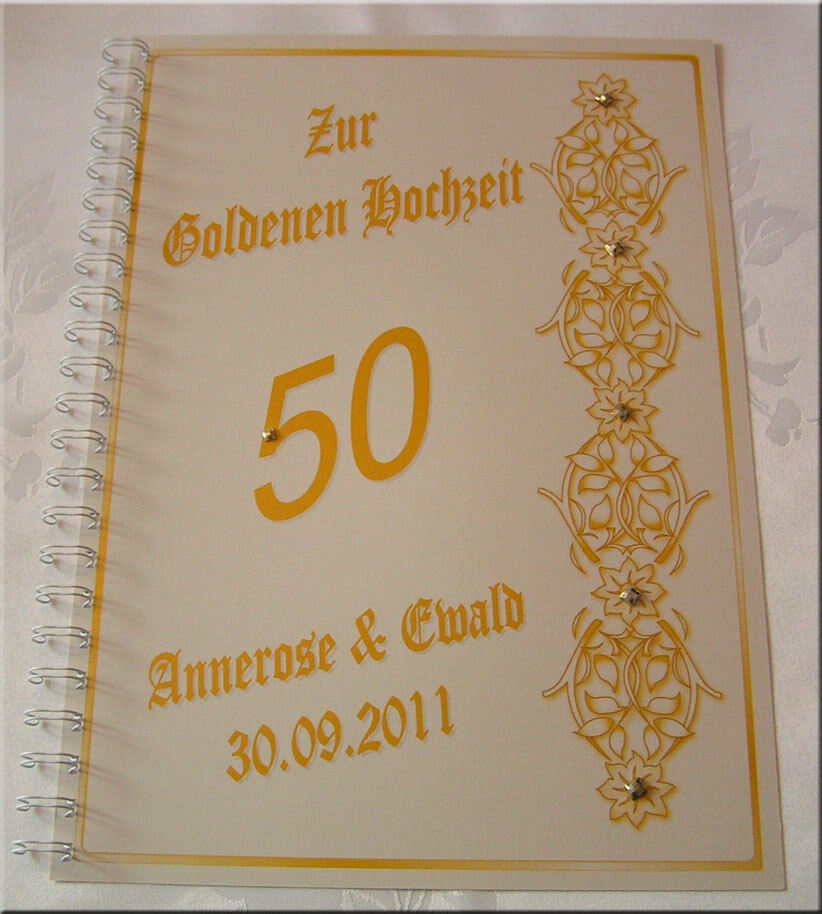 festzeitung goldene hochzeit goldhochzeit blumenranke geschenk einladung deko ebay. Black Bedroom Furniture Sets. Home Design Ideas
