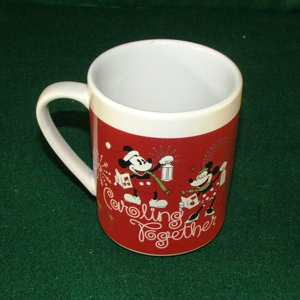Mickey Amp Minnie Mouse Christmas Caroling Together Ice