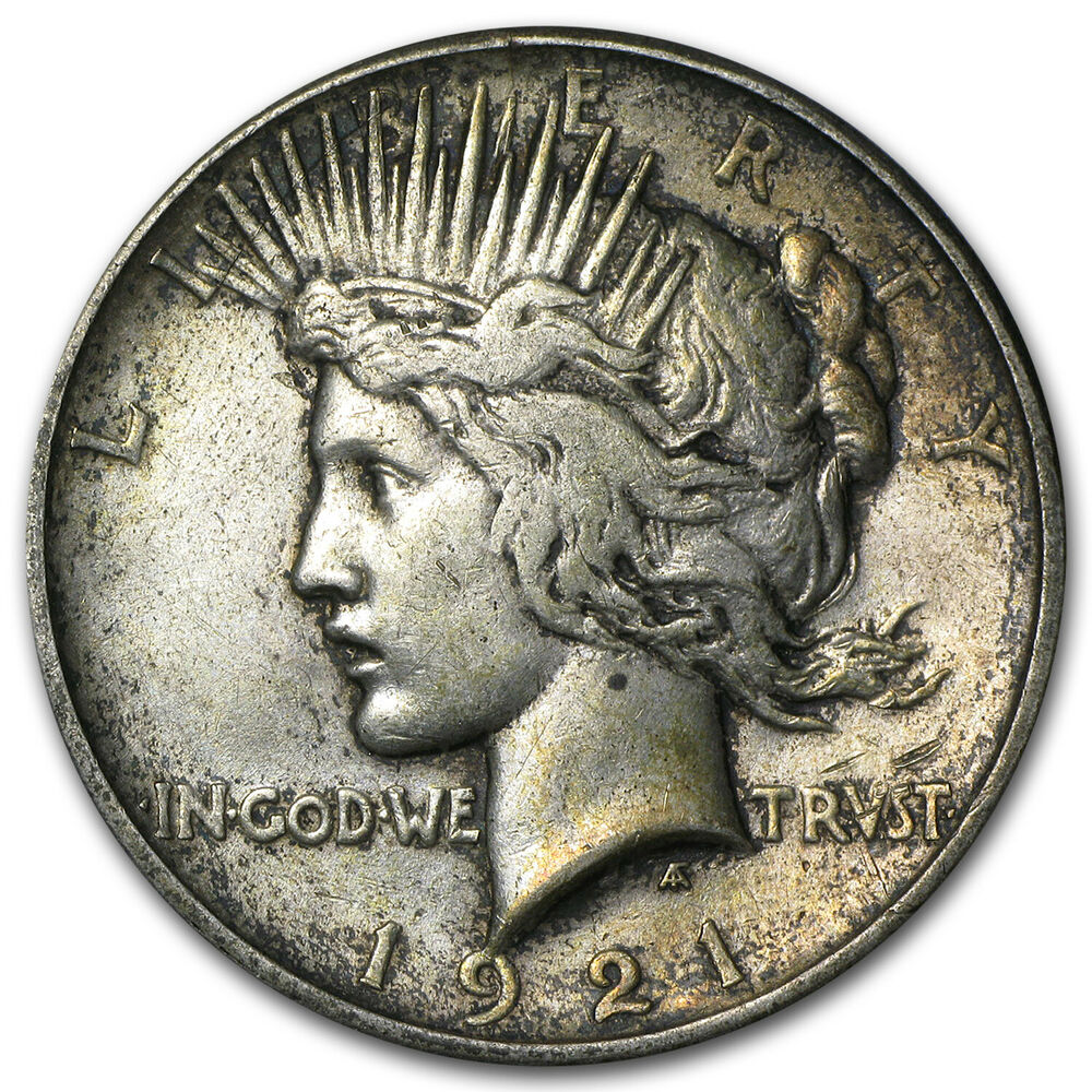 1921 Peace Dollar High Relief Coin Extra Fine Ebay