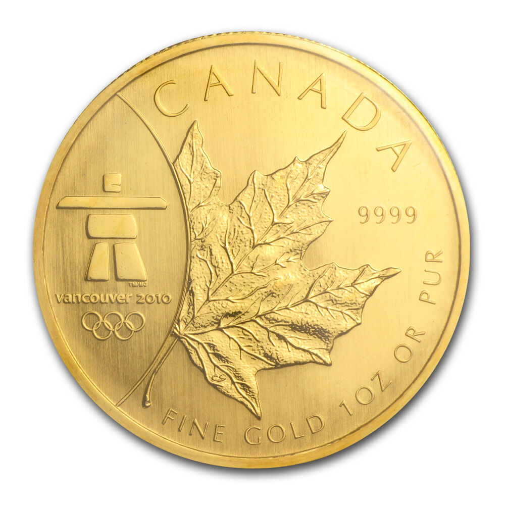 2008 1 oz Gold Canadian Maple Leaf Coin - Vancouver ...