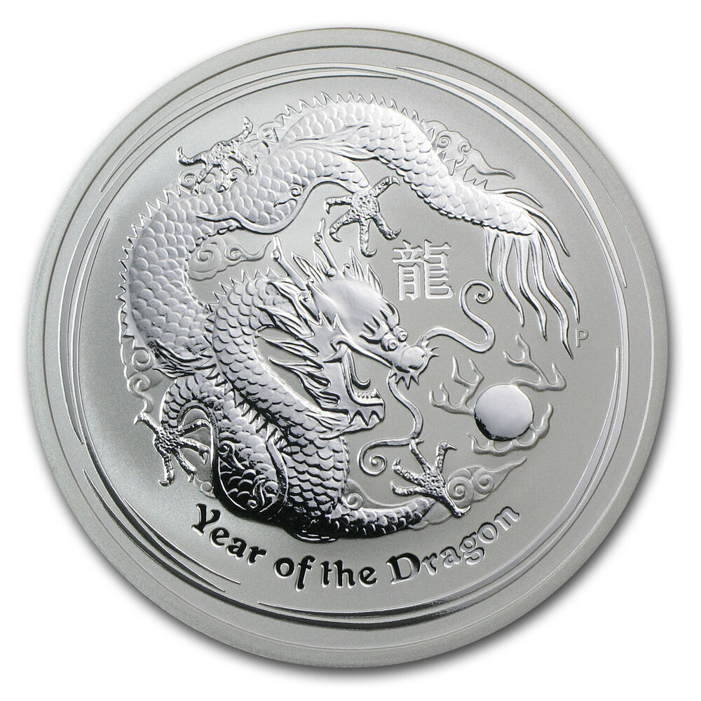 2012 2 Oz Silver Australian Perth Mint Lunar Year Of The