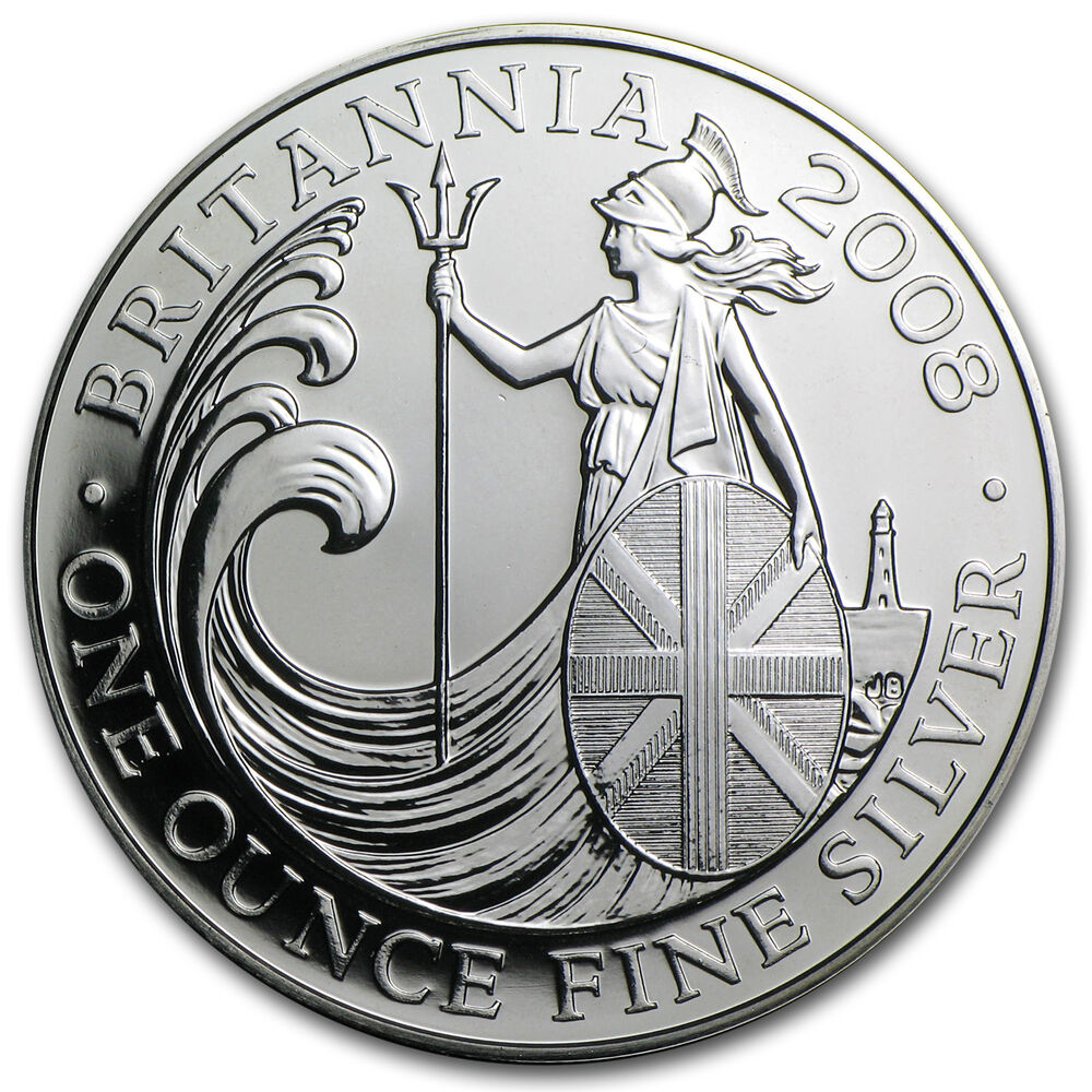 2008 1 Oz Silver Britannia Coin Brilliant Uncirculated