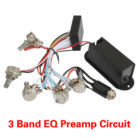 high quality 3 band eq preamp circuit for bass pickup active brand new ebay. Black Bedroom Furniture Sets. Home Design Ideas