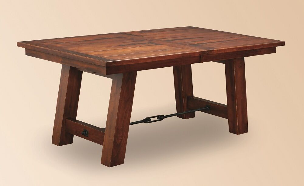 Amish Rustic Plank Dining Table Farmhouse Cabin Wood Furniture Country Cabin Ebay