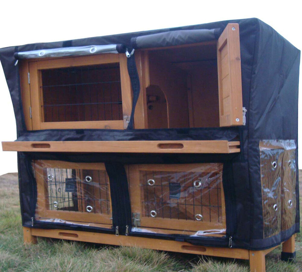 Cover for large roger xl rabbit hutch guinea pig hutches for Free guinea pig hutch