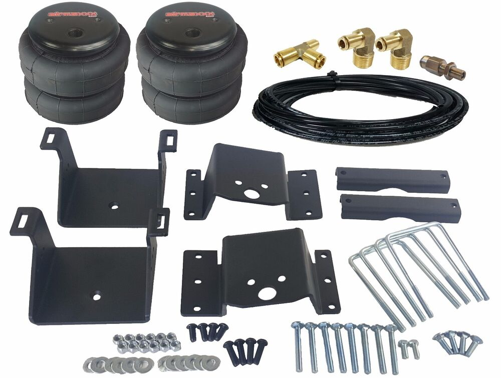 towing air bag kit bolt on 2011 2017 chevy 2500 3500 rear suspension load level ebay. Black Bedroom Furniture Sets. Home Design Ideas