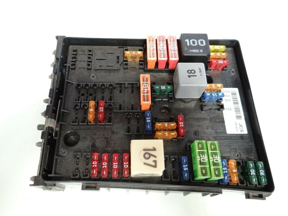 2007 volkswagen vw eos fuse box unit module | ebay fuse box module 1995 jeep yj fuse box power box and details