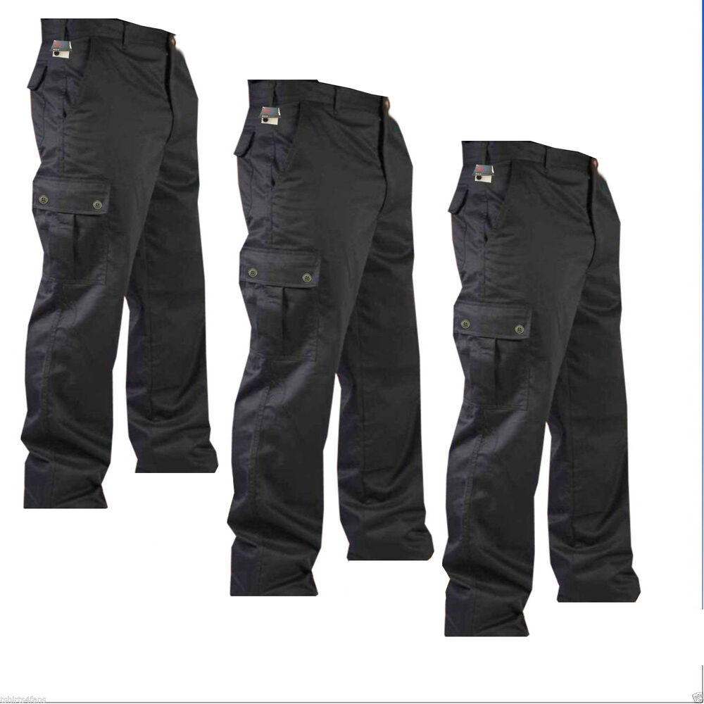 """New Mens Cargo Combat Work Trousers Pants Size 32"""" to 40 ..."""