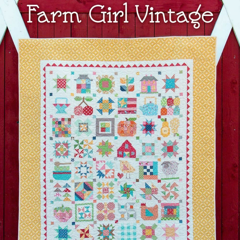 Book Cover Vintage Quilt : Farm girl vintage book quilt blocks projects lori