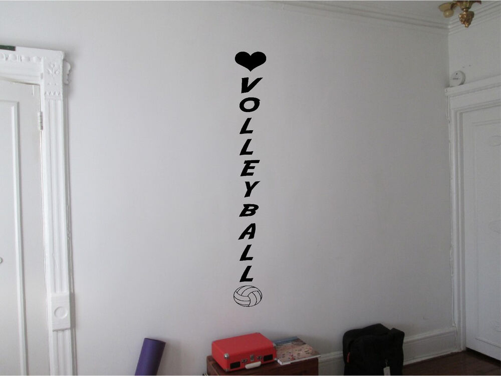 Volleyball wall sticker sports wall art decor vinyl decal for Girls room wall decor