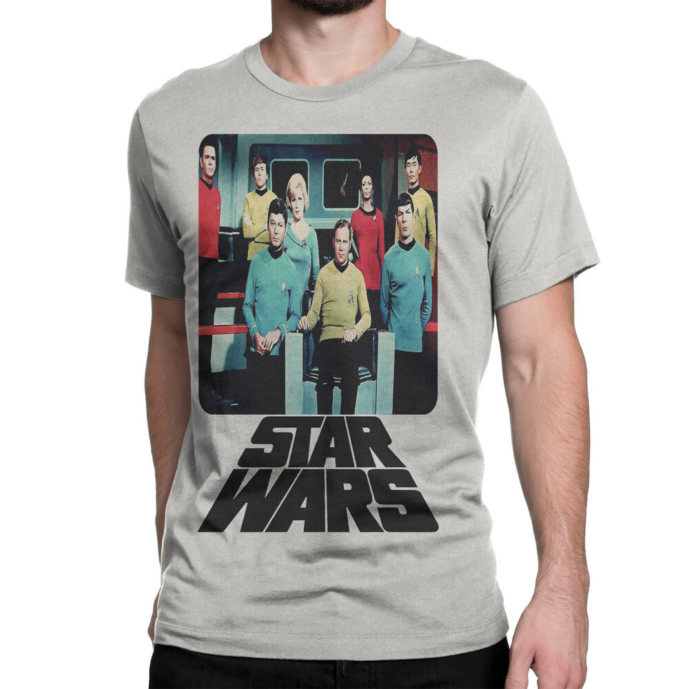 star trek star wars premium t shirt distressed tee funny shirt spoof ebay. Black Bedroom Furniture Sets. Home Design Ideas