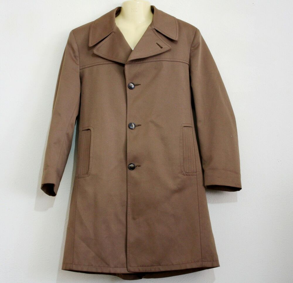 richman brothers top coat with removable lining in size 40r ebay. Black Bedroom Furniture Sets. Home Design Ideas