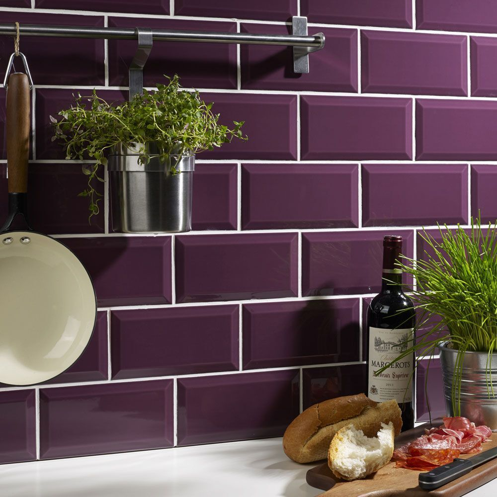 Purple Kitchen Tiles Uk