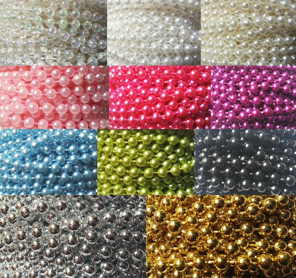 5mm pearls string beads sewing trim cake craft wedding