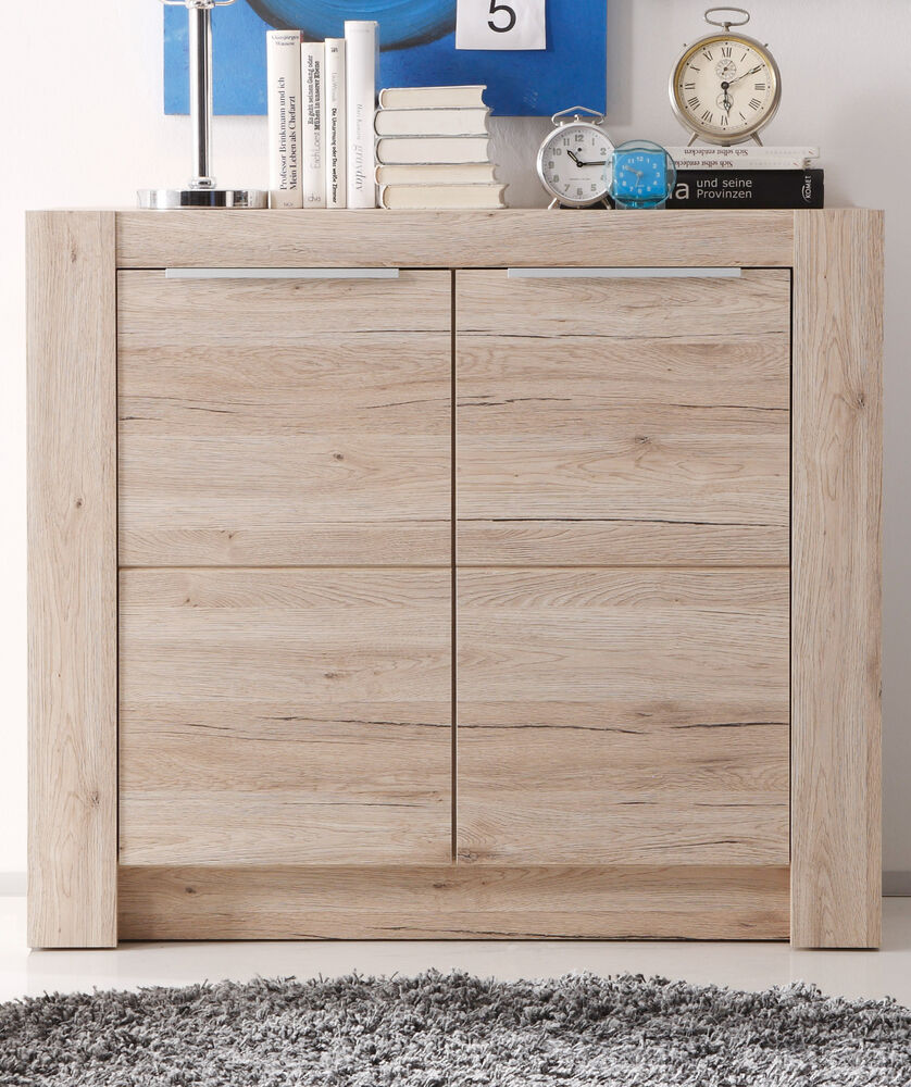 sideboard kommode in eiche san remo wohnzimmer schrank esszimmer anrichte cougar ebay. Black Bedroom Furniture Sets. Home Design Ideas