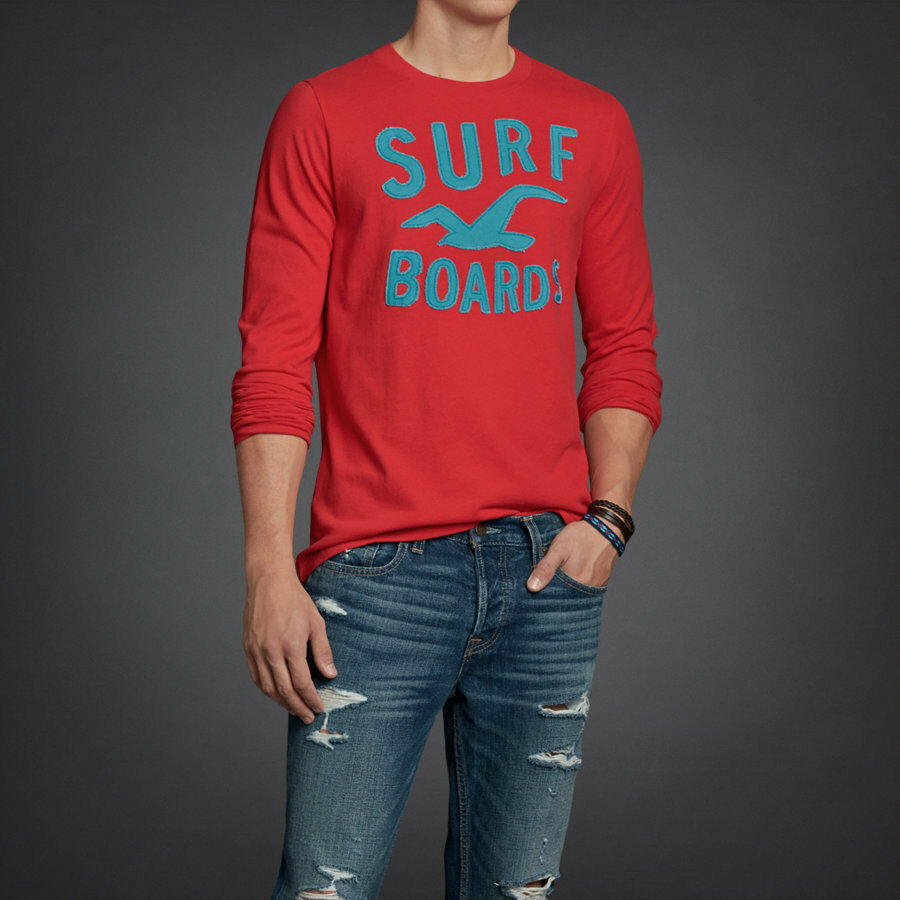 Hollister Men 39 S Muscle Long Sleeve Graphic Tee S M