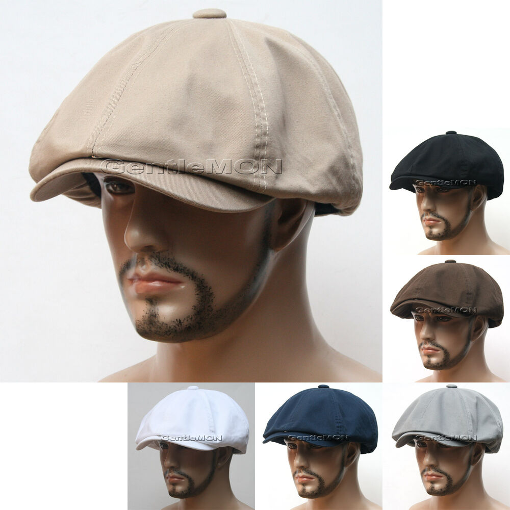 Washed Cotton Gatsby Cap Mens Ivy Hat Golf Driving Summer