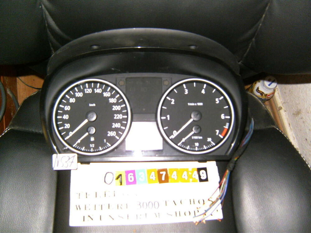 tacho kombiinstrument bmw 3er e90 e91 6974651 tachometer. Black Bedroom Furniture Sets. Home Design Ideas