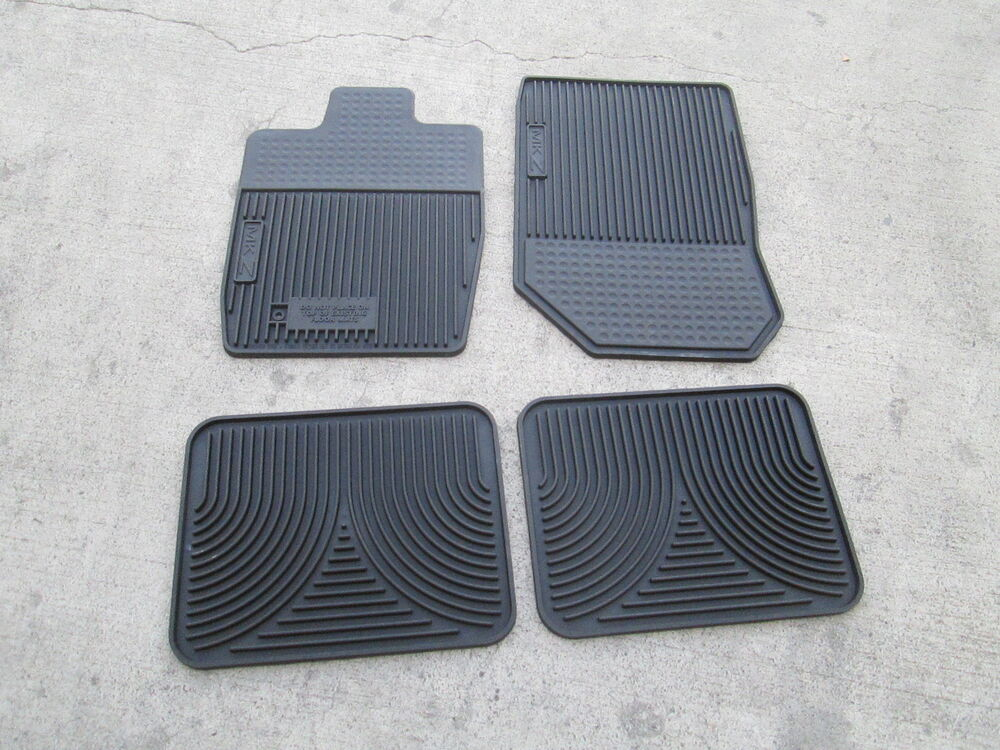 Lincoln Mkz Floor Mats All Weather Vinyl 4 Piece Set Black