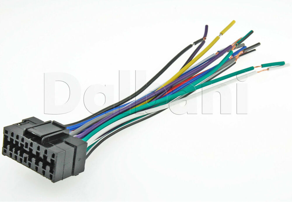 New sony pin car radio stereo wire wiring harness ebay