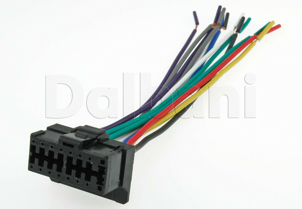 new pioneer 1285 car radio stereo 16 pin wire wiring Scosche Stereo Wiring Harness Car Stereo Wiring Harness