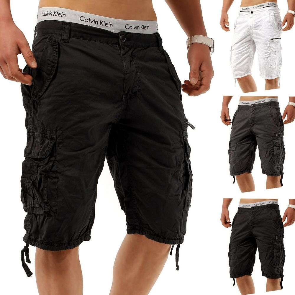herren cargo capri shorts steel avanger vintage bermuda kurze hose short plus ebay. Black Bedroom Furniture Sets. Home Design Ideas