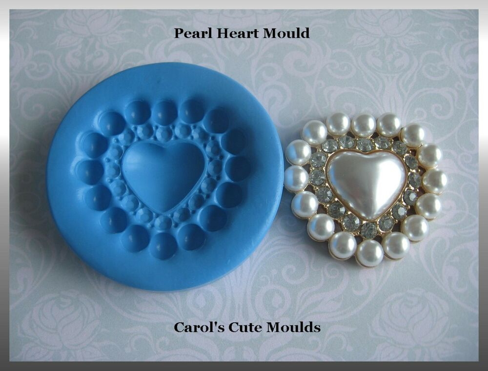 Cake Decorating Pearl Balls : CAKE DECORATING: WEDDING/VALENTINE PEARL HEART SILICONE ...
